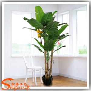 Venda a quente Decoração planta artificial Banana Envasadas Bonsai Tree