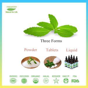 Muy concentrado en polvo Extracto de la hoja de Stevia puro sin aditivos