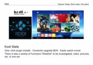 2016 androider Gehilfe 4k Einstellen-Oberseite Kasten des Fernsehapparat-Kasten-T95X S905X 1g/8g Kodi 16.0 intelligenter Fernsehapparat-Kasten intelligentes androides Tvbox