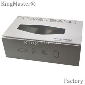 Cargador de batería móvil portable de la batería de la potencia del indicador digital de Kingmaster 6600mAh