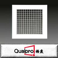 Amplamente usado grelha de ar de suprimento de ar de ventilação registrar grelha deflexão duplo de alumínio