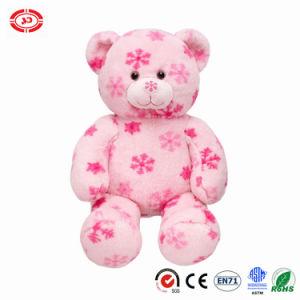 Il natale ha stampato il giocattolo molle animale di seduta dell'orso dell'orsacchiotto della peluche del tessuto
