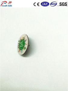 エポキシとのカスタマイズされた高品質円形プリント折りえりPin