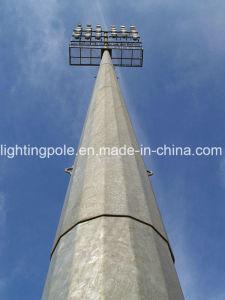 30m Fútbol Galvanzied Feild Lighting Pole con escalera