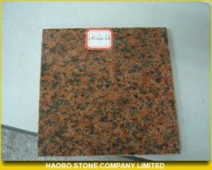 Tianshanの赤い花こう岩の磨かれた床タイル