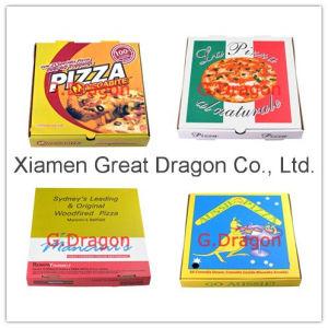 Produits de boulangerie Boîte en carton ondulé avec une parfaite de l'impression et de la forte de l'emballage (PIZZ-005)