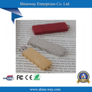 USB2.0 металлический диск USB с шелковым трафаретной печати