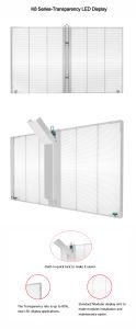 P10 Affichage LED en verre transparent (LED) pour la publicité de panneaux d'écran