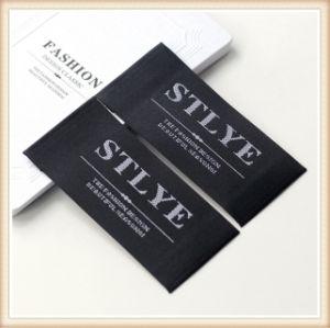 Tela barata personalizada etiqueta tejida Shirt etiquetas para prendas de vestir