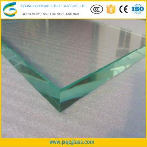 Fabricante de 15mm Low-Iron extra grande de cristal templado de seguridad