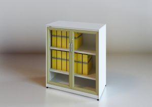 [هيغقوليتي] معدنة [ستورج لوكر] مع [سوينغ دوور] زجاجيّة ([س] [سري])