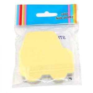 顧客用かわいい虹は粘着性があるノート、メモのSelf-Stickノートに羽をつける