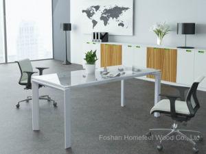 Tavolo Di Ufficio : Tavolo di riunione di vetro di vetro rettangolare della tabella di