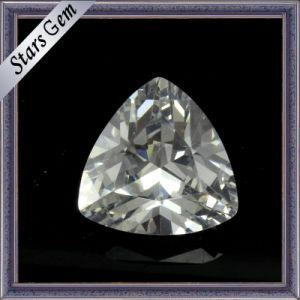 Varios colores trillion corte piedra preciosa de circonio para joyería