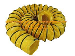 Amarelo revestido de PVC flexível o duto de ventilação para o aquecedor