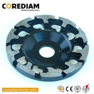 130 mm de rueda de la Copa de molienda de segmento de T/herramienta de diamante