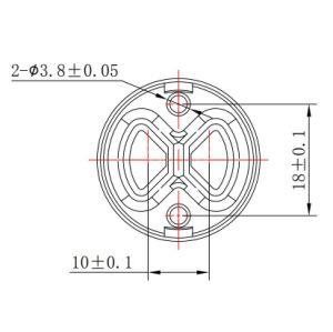 25mmのダイバーターの2つの機能(スイッチ)の陶磁器のバルブ・コア(YLD25-08T)