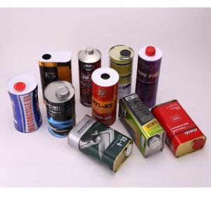 La pinte de boîtes de conserves de lubrifiant pour l'huile comestible, l'huile moteur