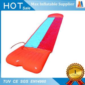 Simple hinchable tobogán para patinar sobre la hierba seca