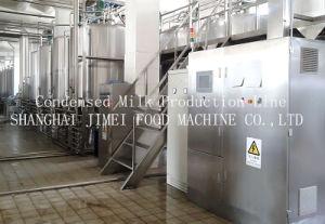 Concentração/Leite condensado na linha de produção de leite líquido sólido