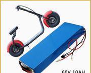 고가 Harley 전기 스쿠터 차를 위한 재충전용 60V 20ah 기관자전차 리튬 건전지