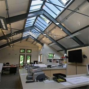 Edifici per uffici prefabbricati del blocco per grafici d'acciaio del metallo