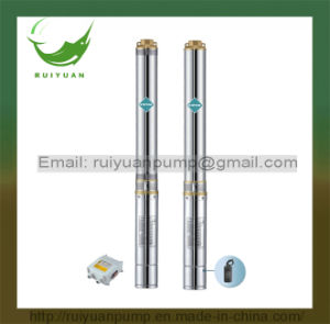 安い4インチの0.37kw 0.5HP省エネアルミニウムワイヤー深い井戸の浸水許容の水ポンプ(4SD6-5/370W)