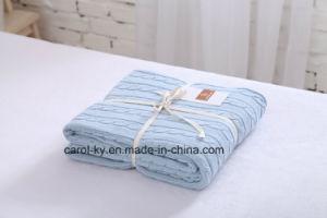 مريحة رمي غطاء قطر يحاك غطاء غطاء دافئ