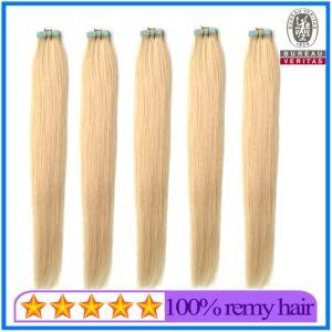 Cheveux humains Virgin sèche 100g 20pouce 613# brésilien de couleur blonde cheveux soyeux style bande droite hair extension Remy Hair