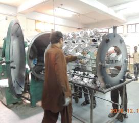 Horizontaler Typ Vakuummaschine, zum des Plastikteils zu metallisieren
