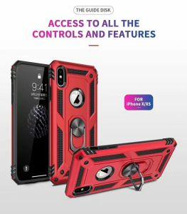 Nouveau téléphone mobile a émis l'Armure hybride cas pour l'iPhone X/XS/Samsung avec anneau Magenetic titulaire