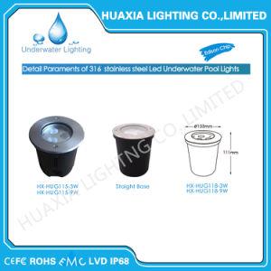 316ステンレス鋼白いRGBによって引込められる水中LEDのライトを防水しなさい