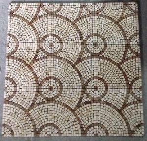 Carrelage de sol en mosaïque, ronde motif mosaïque de pierre de marbre