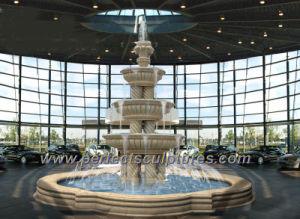 Granito Mármol Piedra jardín fuente piscina de agua con Pilar (columna tallada SY-F199)