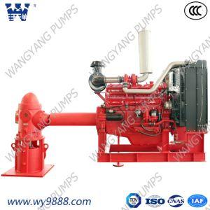 Motor diesel de alta eficiência Line-Shaft Bomba de combate a incêndio de turbina vertical