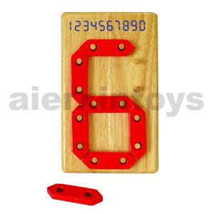 Número Digital brinquedos de madeira
