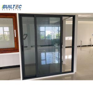 Revestimiento en polvo gris aluminio puerta corrediza de aluminio