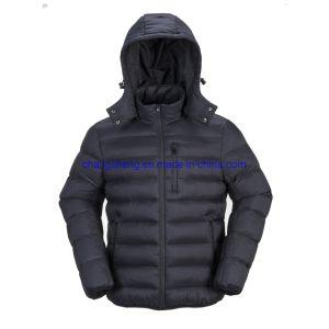 Ocio popular de la luz de nylon acolchado abajo falsos de los hombres chaqueta de invierno Ropa de trabajo al aire libre