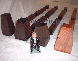 Ebène et bois noir pour les jeux de clarinette