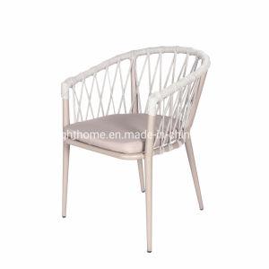 Nuevos populares modernos de aluminio de ocio de la cuerda de ratán Garden Hotel Casa muebles silla exterior