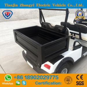 Marca Zhongyi 4 lugares fora da estrada carros de golfe eléctrico com a caixa de carga