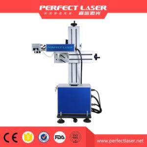 Macchina della marcatura del laser della fibra del metallo di volo dell'affissione a cristalli liquidi con il nastro trasportatore