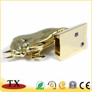 Диск USB холодного металла формы коровы внезапный и USB