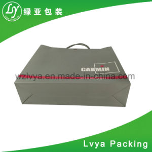 La impresión de logotipo personalizado personalizado comestibles artesanales Bolsa de papel para la prenda de vestir