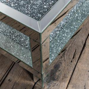 Novo Diamante esmagar retangular de espelho de mesa de café
