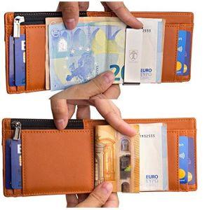 Hot Sale le titulaire de carte Slim Wallet véritable portefeuille en cuir de vache pour les hommes