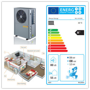 12kw 유럽 에너지 레이블을%s 가진 변환기를 급수하는 공기 -78 Kw 고능률 열 펌프