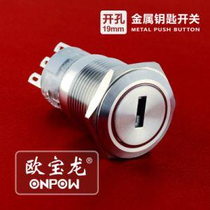 Onpowの押しボタン(LAS1-AGQ-11E/R/12V/N、19mmのセリウム、UL、CCC、RoHS)