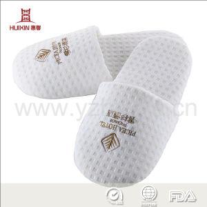 Haute qualité du pain brillant de velours confortables pantoufles jetables