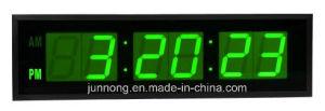 6 dígitos de gran tamaño Reloj digital LED de montaje en pared